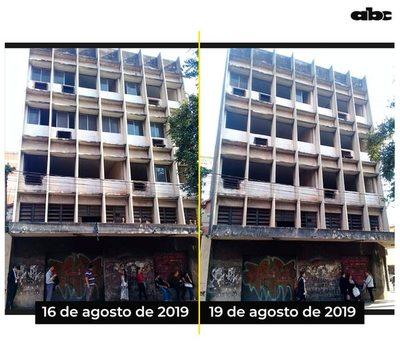 Ladrones se llevan las ventanas de edificio céntrico