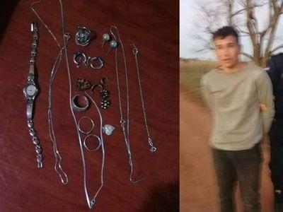Misiones; detienen a un joven presunto autor de varios robos y hurtos