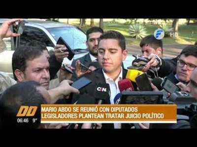 Tras reunión con Abdo, legisladores plantean tratar juicio político