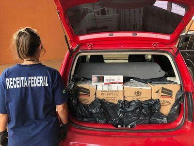 Decomisan cigarrillos de Tabesa por valor de $ 48.000 en Ponta Porã