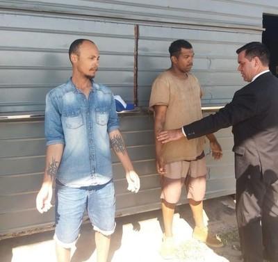 Dos ciudadanos brasileños fueron detenidos a metros del Palacio de López