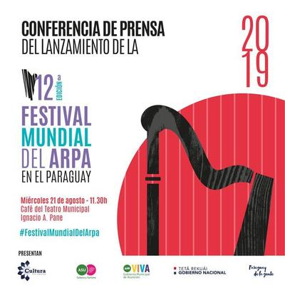 Hoy conferencia de prensa sobre Festival Mundial del Arpa en el Teatro Municipal