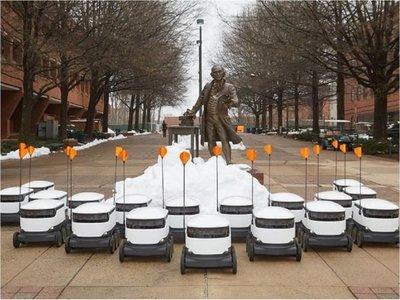 Pequeños robots repartirán comida en 100 universidades
