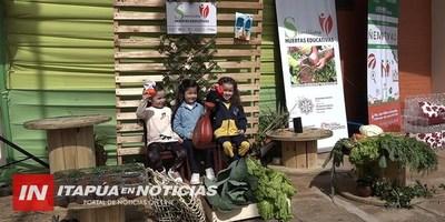 IMPLEMENTAN PROYECTOS HUERTAS EDUCATIVAS EN ITAPÚA