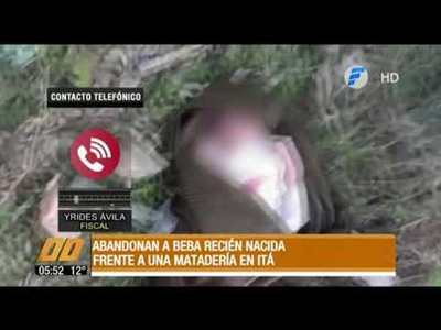 Abandonan a beba recién nacida en Itá
