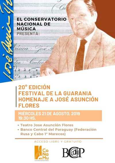 CONAMU presenta este miércoles homenaje al Maestro José Asunción Flores