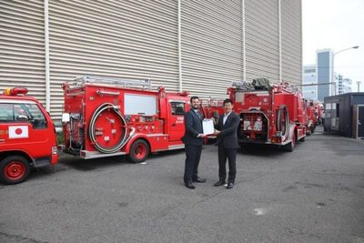 Japón donó a Paraguay carros para bomberos y ambulancias