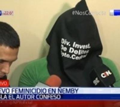 Presunto feminicidio: Hombre confiesa haber disparado a su pareja
