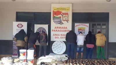 BALACERA, DETENIDOS Y MERCADERÍAS INCAUTADAS EN ALTO PARANÁ