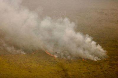 Fuego ya consumió cerca de 40 mil hectáreas en zona del Pantanal paraguayo