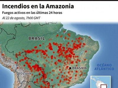 Brasil, bajo presión internacional por desastre ecológico en Amazonia