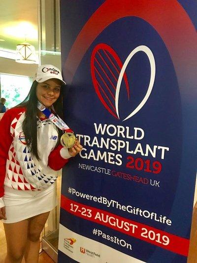 Tatiana Benítez bicampeona en Mundial de Deportistas Trasplantados