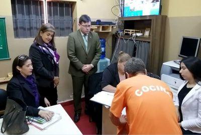 Juzgado de Ejecución inspeccionó penitenciarias de Emboscada