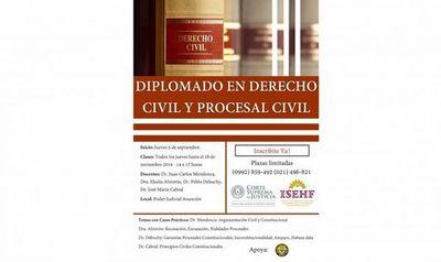 Darán inicio a Diplomado en Derecho Civil