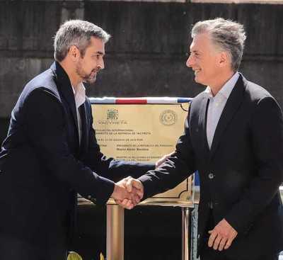 Macri destaca el inicio de una nueva dinámica y forma de relacionamiento entre argentinos y paraguayos