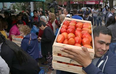 Exitosa feria de tomates: 12.000 kilos vendidos en un sólo día
