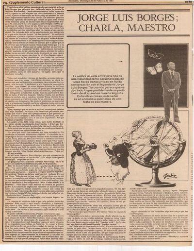 Tres entrevistas con Borges