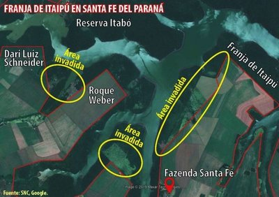 Fazendeiros avanzan sobre bosques de la franja de protección de Itaipú