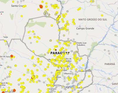 Persisten casi 500 focos de incendio en todo el país