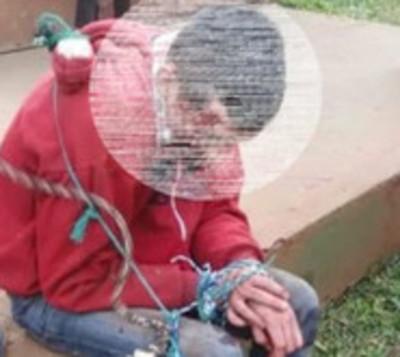Vecinos capturan a presunto delincuente