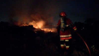 Irresponsable quemazón también causa alerta en Capiatá