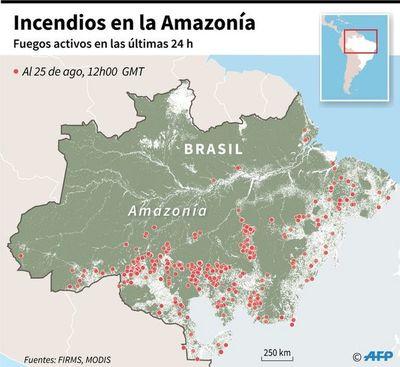 Las llamas siguen devorando  parte del bosque de la Amazonia en Brasil