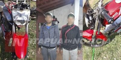 CNEL. BOGADO: DOS DETENIDOS CON NEXO EN HURTO DE MOTOCICLETAS