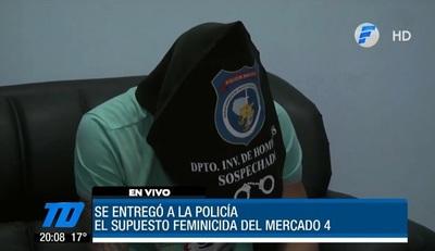 Se entrega sospechoso de feminicidio en el Mercado 4