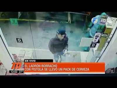 Ladrón de cerveza es buscado por la policía