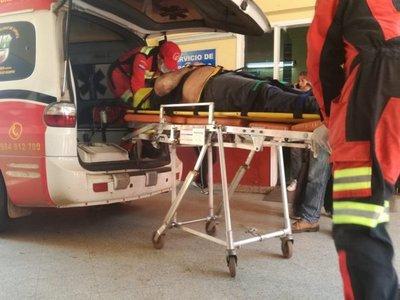 Descarga eléctrica le tiró 10 metros a un trabajador