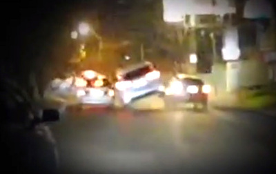 Prepotente empresario extranjero provoca accidente de tránsito y huye del lugar