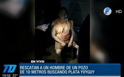 """Rescatan a hombre sepultado buscando """"plata yvyguy"""""""