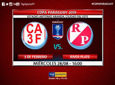 3 de Febrero y River Plate buscan el boleto a los octavos de final