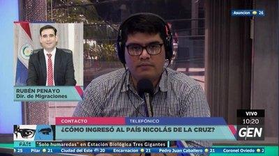 Inmigración y su versión del ingreso de De La Cruz