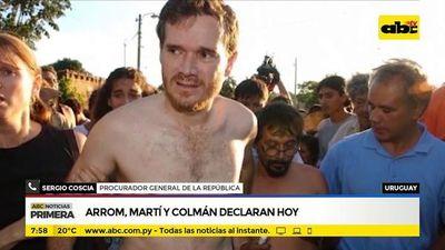 Arrom, Martí y Colmán declaran hoy en Uruguay