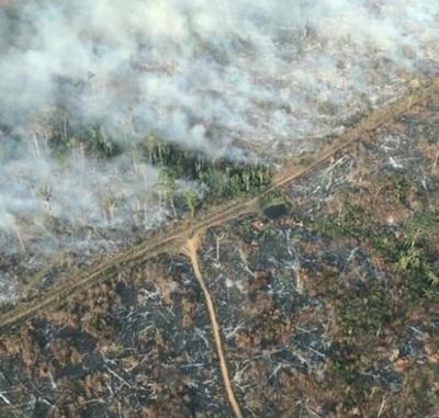 10 impactantes imágenes del incendio en el Amazonas