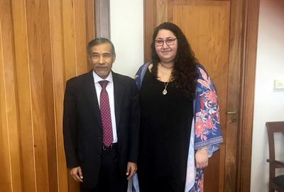 Ministro se reúne con representante de NN.UU.