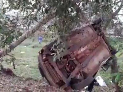 Accidente deja dos fallecidos y un herido en Ciudad del Este