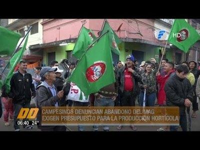 Campesinos denuncian abandono del MAG