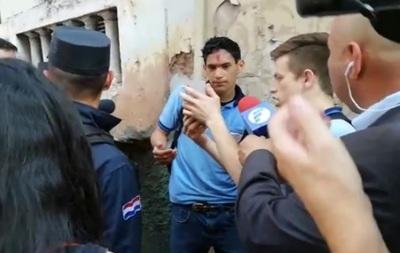 Estudiante sufre herida a causa de explosión