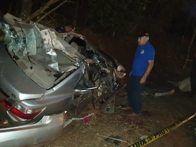 Accidente deja cuatro fallecidos en Francisco Caballero Álvarez
