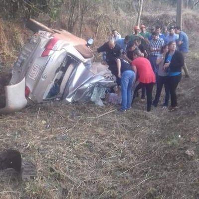 Cinco menores muertos en accidente en Puente Kyjhá, Canindeyú