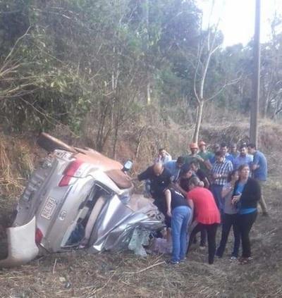 Terrible accidente en Puente Kyjha, Canindeyú