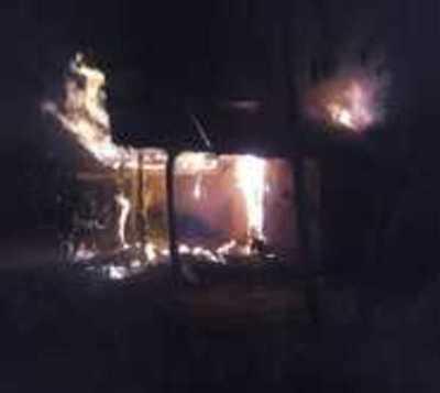 Adicto quema la casa de su abuela