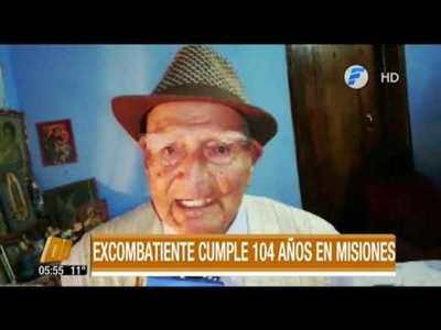 Excombatiente cumplió 104 años de vida