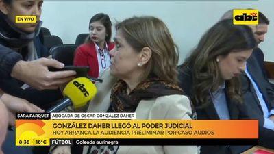 González Daher llegó al Poder Judicial para audiencia preliminar