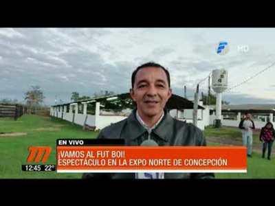 """""""Fútbol Boi"""", particular atracción de la Expo Norte"""