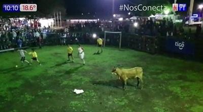 Fútboi: Deporte furor que se juega con una vaca