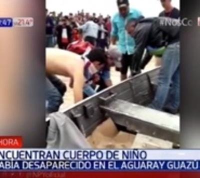 Hallan cuerpo de niño desaparecido en aguas del río Aguaray