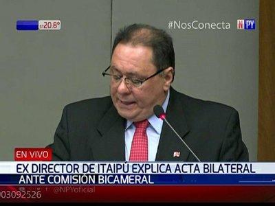José Alderete se defiende ante la comisión bicameral